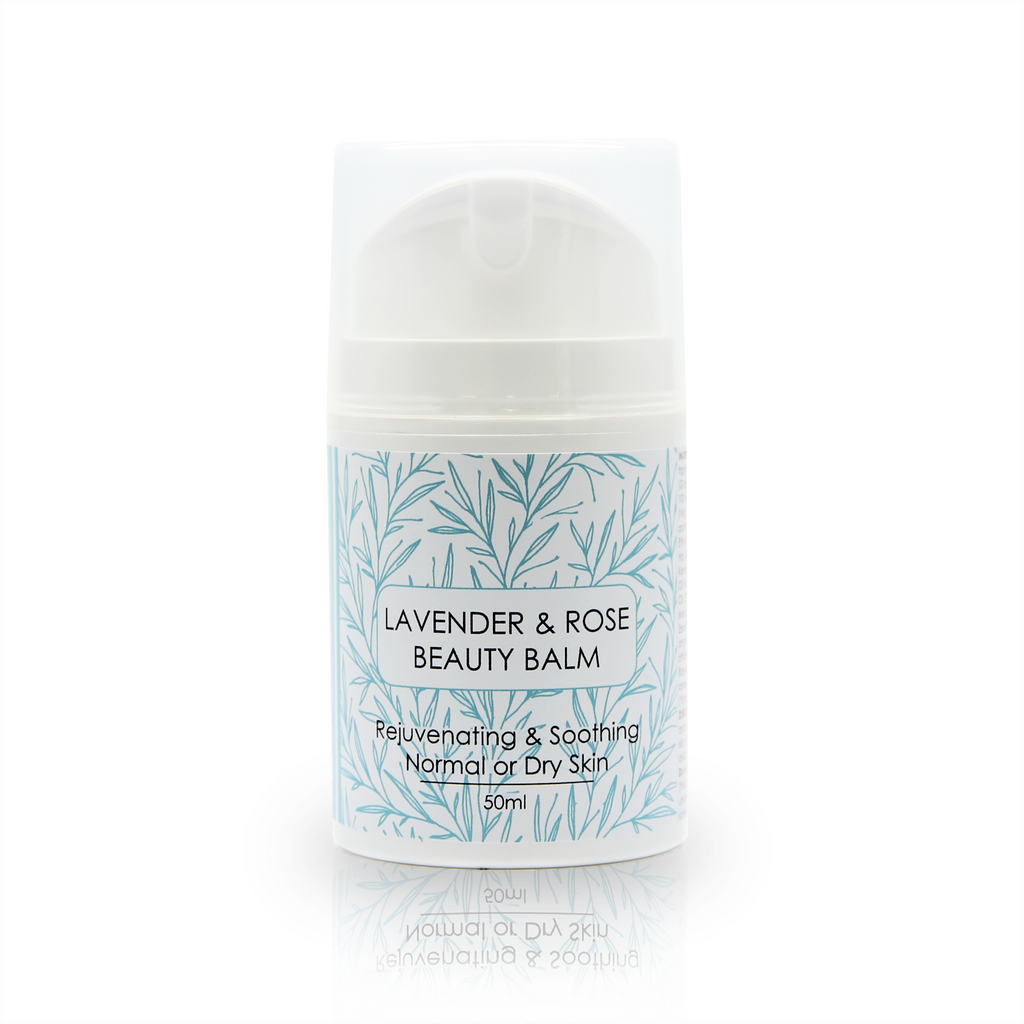 Lavender & Rose Beauty Balm with Rosehip, Restoring Hemp and Vitamin Rich Apricot Kernel Oil 50ml
