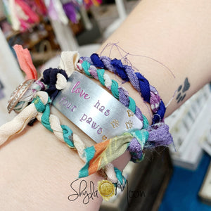 Do Small Things With Great Love (Dandelions) <b>Step #1</b> for Wrap Bracelet <b> Ready To Ship</b>