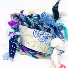 Load image into Gallery viewer, Seas The Day Hand Stamped Kimono Wrap Bracelet <b>(Ready To Ship)</b>
