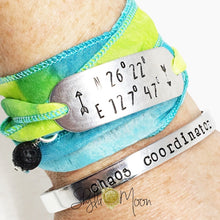 Load image into Gallery viewer, Custom Names Cuff Bracelet (Skinny Cuff)