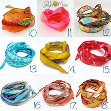 Load image into Gallery viewer, Namaste, Boho Silk Wrap Bracelet