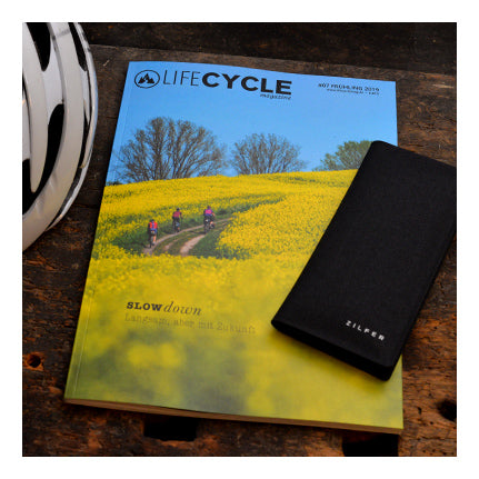 LifeCycle Magazine in Germany Tests the Zilfer Phone Wallet