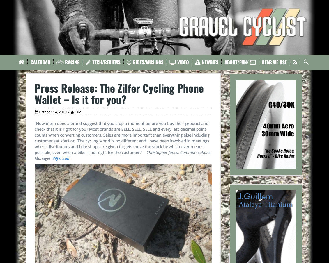 gravel cycling phone holder