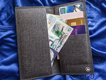 cycling wallet cash