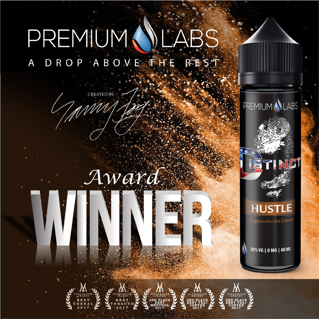Hustle Distinct Premium Labs Current Vapor Co. 60ml - www.currentvapor.net