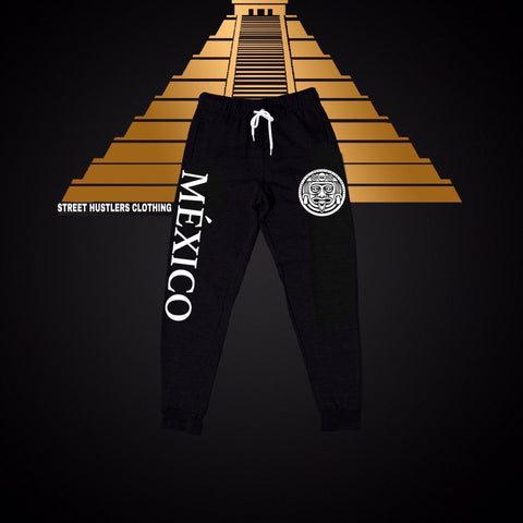 FLEECE JOGGER PANTS / MI PATRIA (BLACK)
