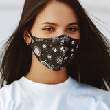 FACE MASK (BLK/BANDANA)