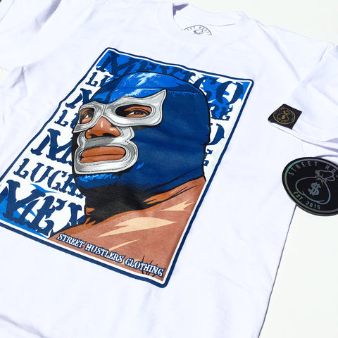 # Blue DMN T-shirt (White)