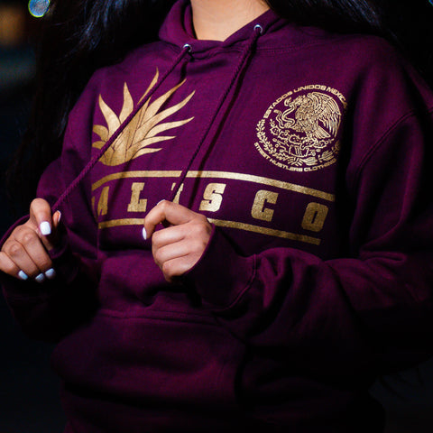 # Jalisco Agave Classic Hoodie (Maroon)