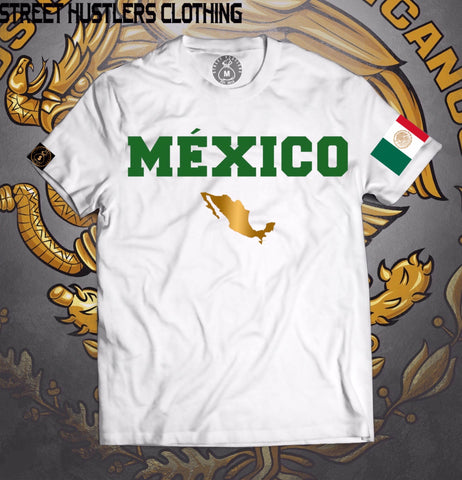 # México Lindo T-shirt (White/Green)