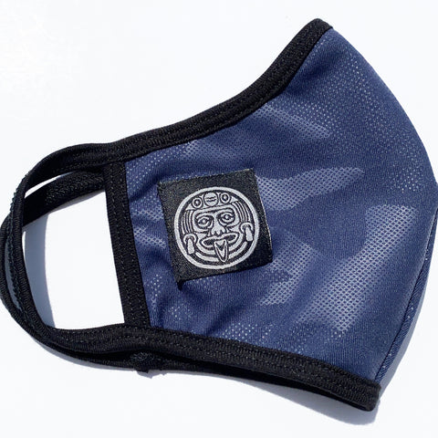 # NAVY FOIL PRINTED FACE MASK W / FILTER