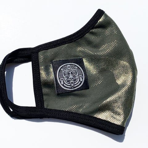 # ARMY FOIL PRINTED FACE MASK W / FILTER