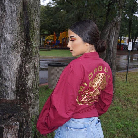 Mi Orgullo Orginal WindBreaker Jacket (Cardinal)