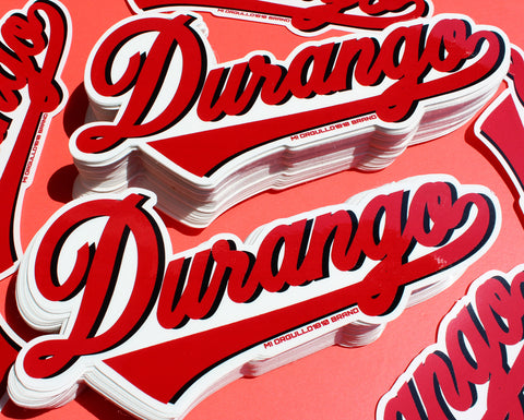 # DURANGO STICKERS (RED/BLK)
