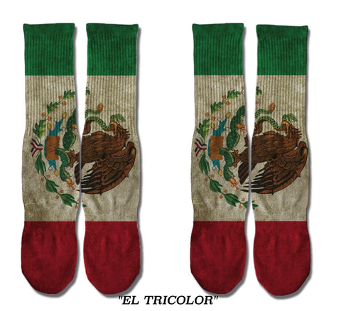 El Tricolor Sublimation Socks
