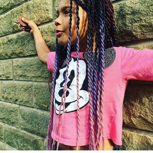 CATFACE HAIR BLACK KISSIN' PINK OMBRE JUMBO BRAIDING HAIR