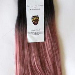 CATFACE HAIR BLACK PINK OMBRE JUMBO BRAIDING HAIR