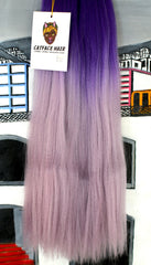 CATFACE HAIR PURPLE CANDY OMBRE BRAIDING HAIR - 16 INCHES
