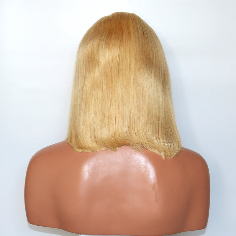 CATFACE HAIR LACE FRONT WIG: BLONDE BOB  BRAZILLIAN HAIR NATURAL HUMAN HAIR GRADE 10