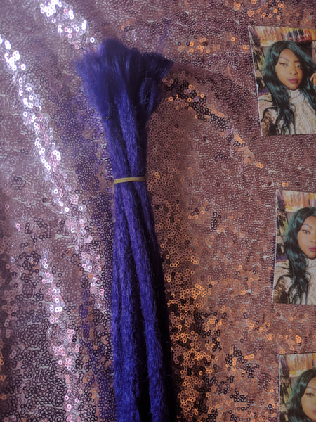 CATFACE HAIR MIDNIGHT PURPLE ROUGH FAUX LOCS - SMALL