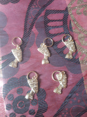 Catface Silver African Queen Hair Charms