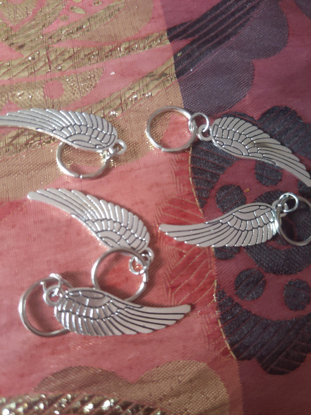 Catface Silver Wingie Hair Charms