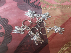 Catface Silver Turtle Hair Charms