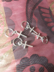 Catface Kriss Cross  Hair Charms