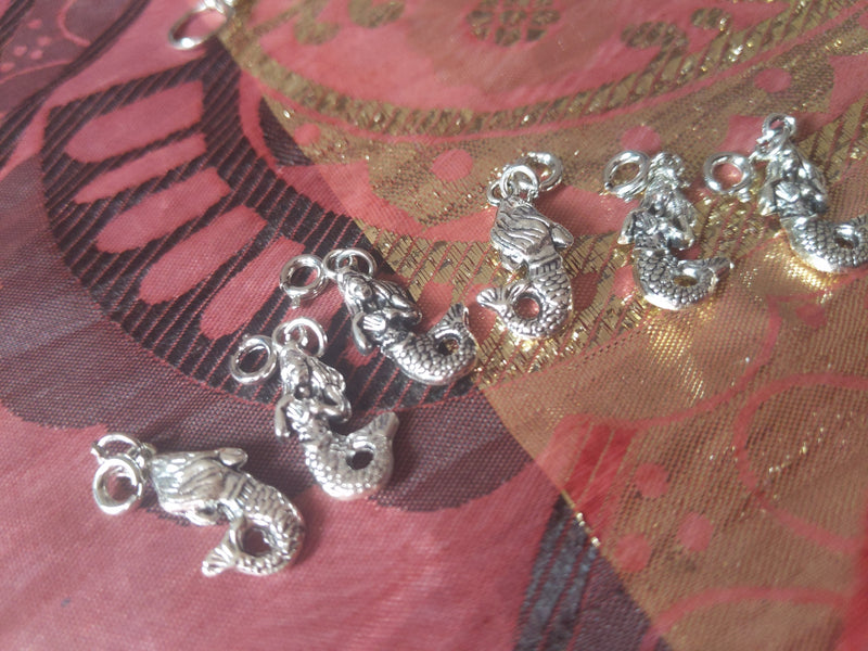 Catface Silver Mermaid Goddess Hair Charms