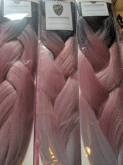 CATFACE HAIR BLACK PINK GREY OMBRE JUMBO BRAIDING HAIR