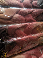 CATFACE HAIR BLACK PINK CANDY OMBRE 30 INCHES JUMBO BRAIDING HAIR