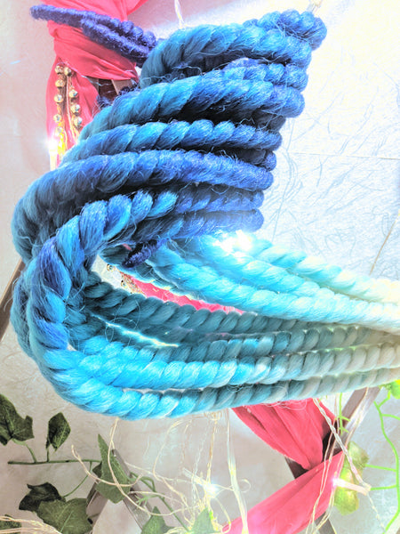 MILKY BLONDE BLUES OMBRE MEDIUM ROPETWISTS CROCHET BRAIDS 24 INCHES CATFACE HAIR