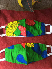 IYE & BABA ANKARA AFRICAN PRINT FACE MASK PAIR  - - STUDIO CATFACE GHANA PRESENTS