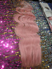 COSMIC CATFACE VIRGIN HAIR EXTENSIONS – PINK BLUSH -   ONE TONE