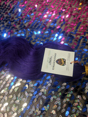 COSMIC CATFACE VIRGIN HAIR EXTENSIONS – PURPLE INK -   ONE TONE