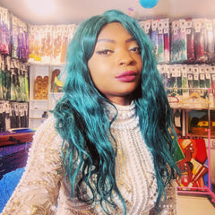 CATFACE SEA GREEN VIRGIN HAIR WIG