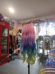Rainbow Ombre Body Wave Synthetic Wig