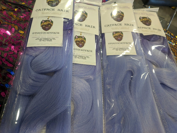CATFACE HAIR PURPLE PINK BLUES OMBRE BRAIDING HAIR - 30 INCHES