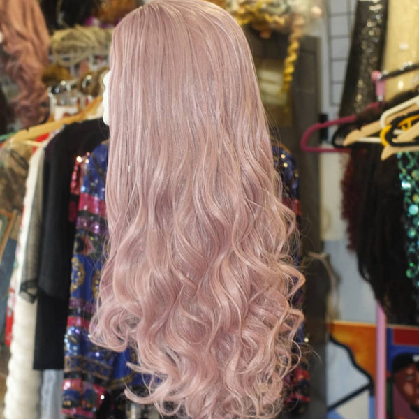 Pastel Pink Body Wave Synthetic Wig COSMIC CATFACE