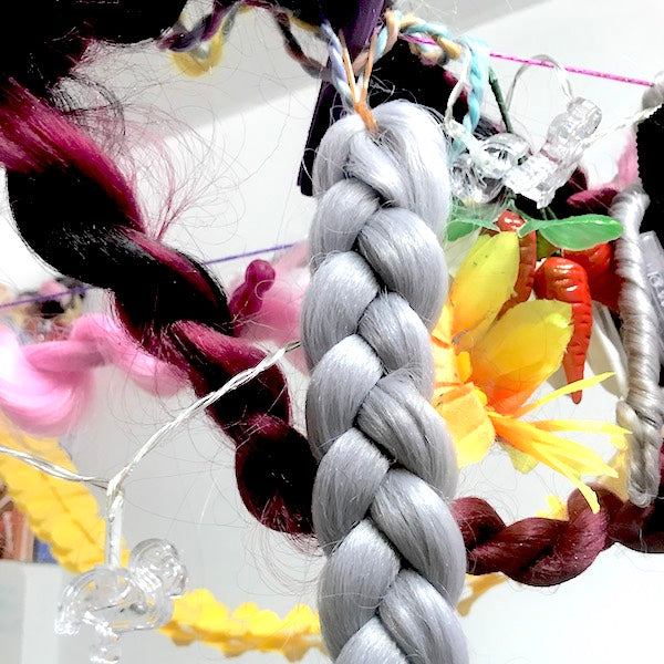 CATFACE SILVER GREY BRAIDING HAIR - ONE TONE