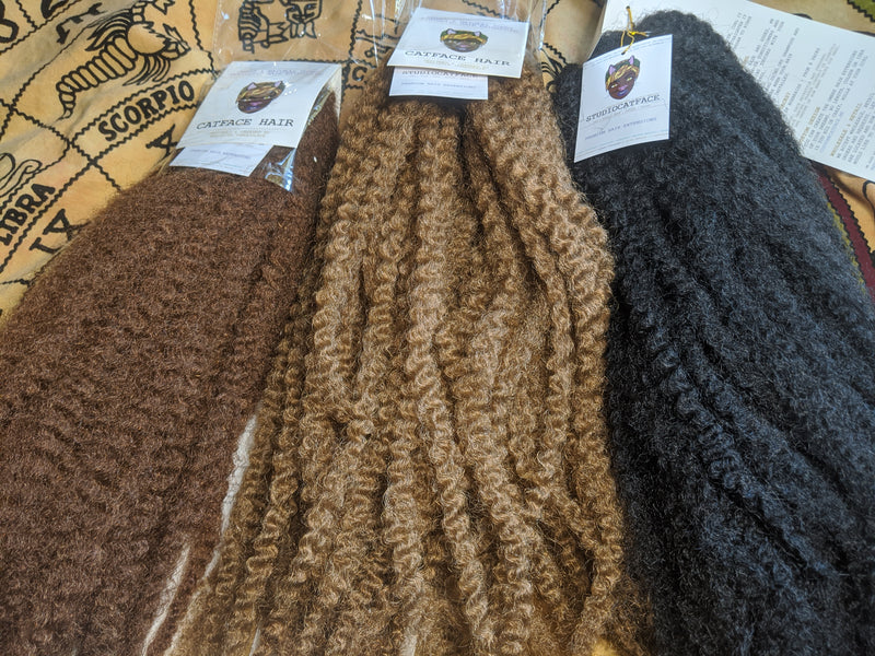 CATFACE MARLEY BRAID HAIR - WARM BROWNIE | CROCHET BRAIDS | FAUX LOCS