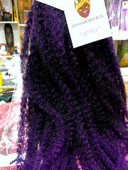 CATFACE MARLEY BRAID HAIR - MIDNIGHT PURPLE OMBRE | CROCHET BRAIDS | FAUX LOCS
