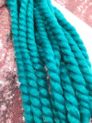 BLACK GREEN OMBRE MEDIUM ROPETWISTS CROCHET BRAIDS 24 INCHES CATFACE HAIR