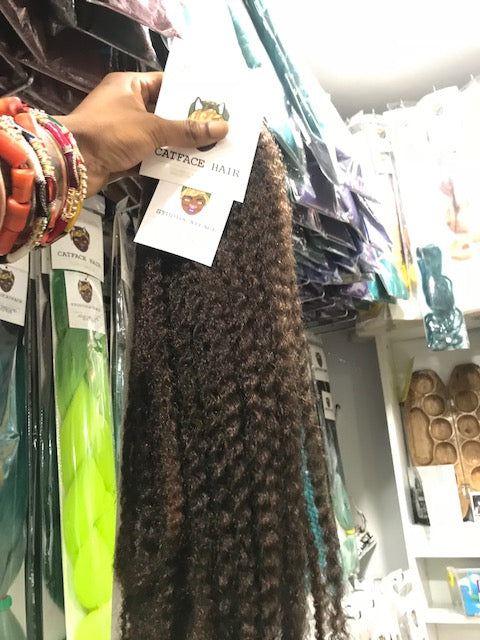 CATFACE MARLEY BRAID HAIR - RUM BROWN | CROCHET BRAIDS | FAUX LOCS