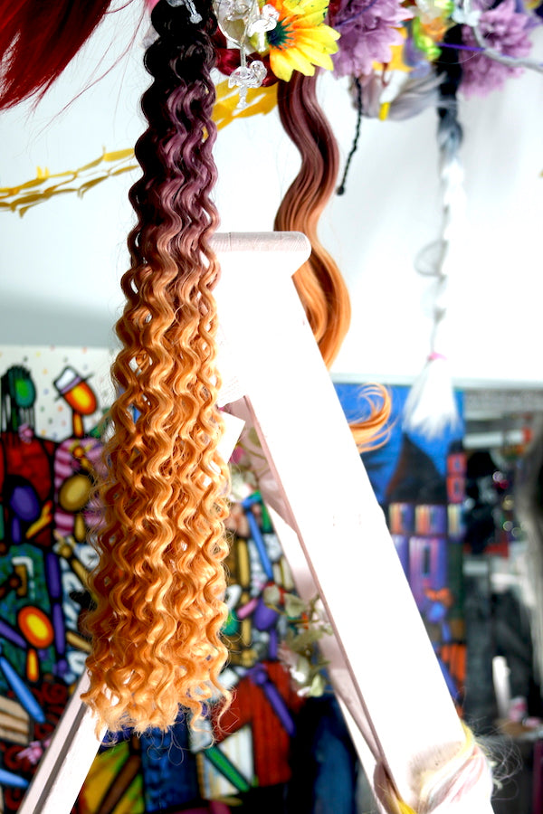 PINK CANDY OMBRE - BEACH CURLY | SYNTHETIC WEFT HAIR