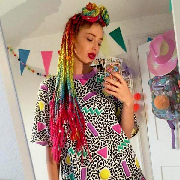 CATFACE HAIR RAINBOW OMBRE JUMBO BRAIDING HAIR