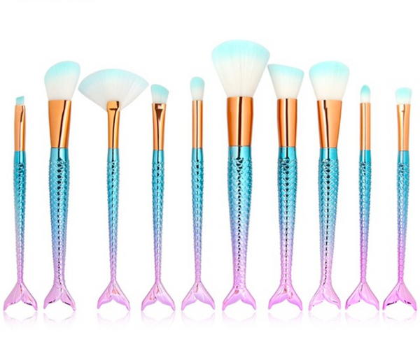 CATFACE MAMI MAKE UP BRUSHES - AQUA PINK