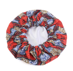 African Style Satin Ankara Bonnet -  LARGE - CHARITY