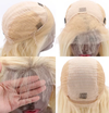 CATFACE HAIR 100% VIRGIN HAIR  RUSSIAN HAIR CURLY SWISS LACE FRONT WIG, HD TRANSPARENT : BLONDE - READY TO WEAR