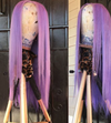 CATFACE HAIR HUMAN HAIR BRAZILLIAN LACE FRONT LAVENDER STRAIGHT WIG